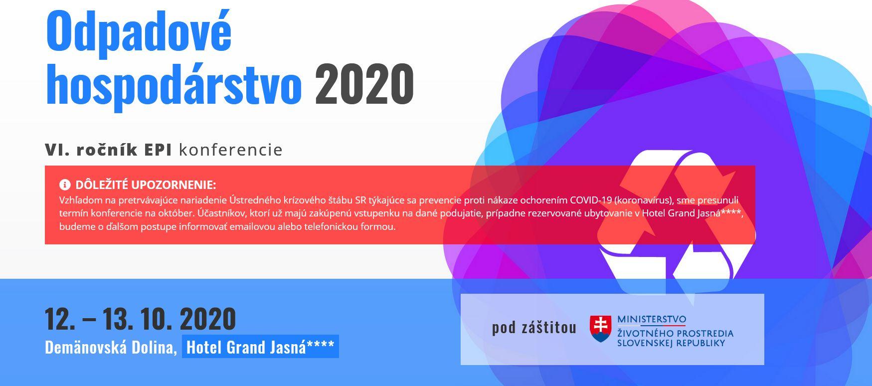 Konferencia Odpadové hospodárstvo 2020