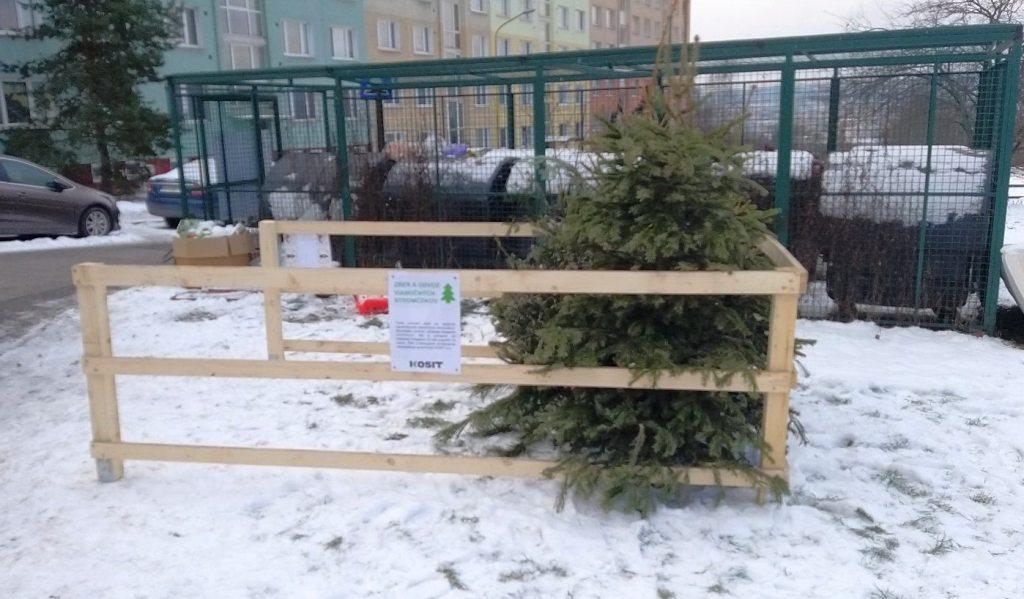 V Košiciach vybudovali drevené ohrádky na zber vianočných stromčekov