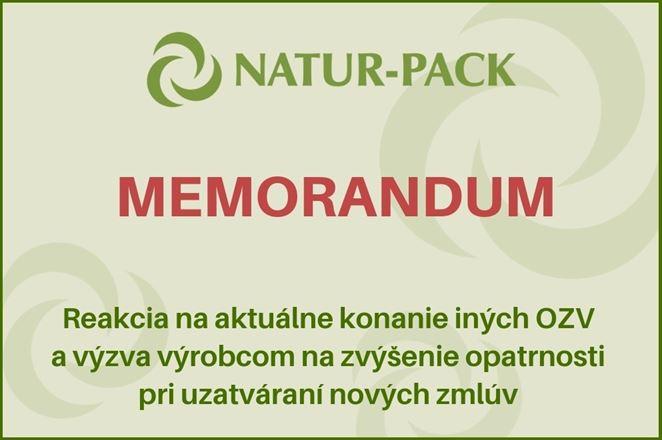 Reakcia NATUR-PACKu na aktuálne konanie iných OZV a výzva výrobcom na zvýšenie opatrnosti pri uzatváraní nových zmlúv