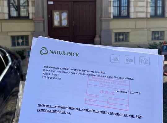 NATUR-PACK úspešne podal ohlásenia za viac ako 7 800 klientov