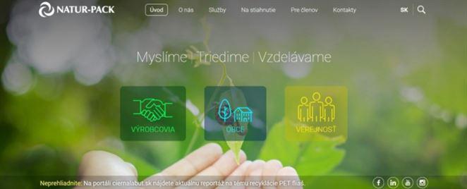 NATUR-PACK má novú webovú stránku. Ponúka rady pre výrobcov, obce aj verejnosť