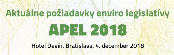 Pozvánka na konferenciu: APEL 2018 - Aktuálne požiadavky environmentálnej legislatívy