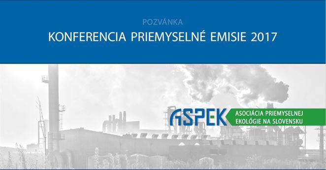Pozvánka na konferenciu: PRIEMYSELNÉ EMISIE 2017