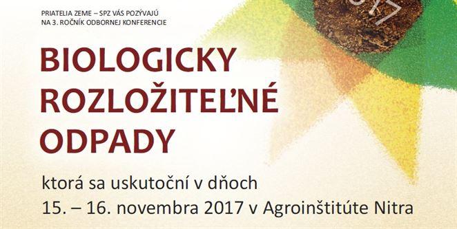 Pozvánka na konferenciu: biologicky rozložiteľné odpady