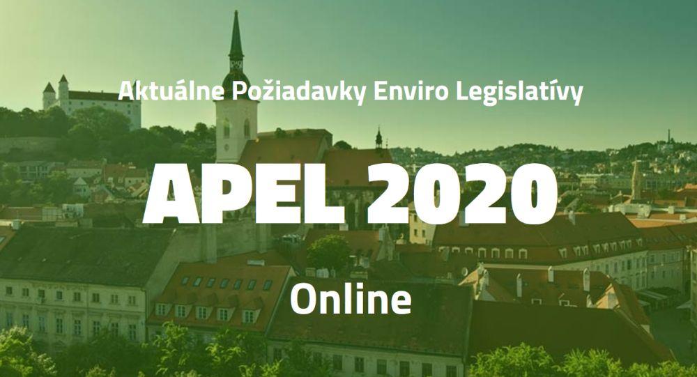 Pozvánka na konferenciu APEL 2020 - Aktuálne požiadavky enviro legislatívy