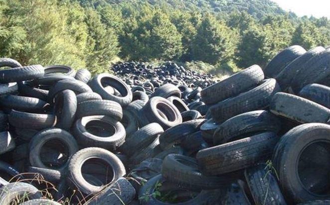 skládka pneumatík