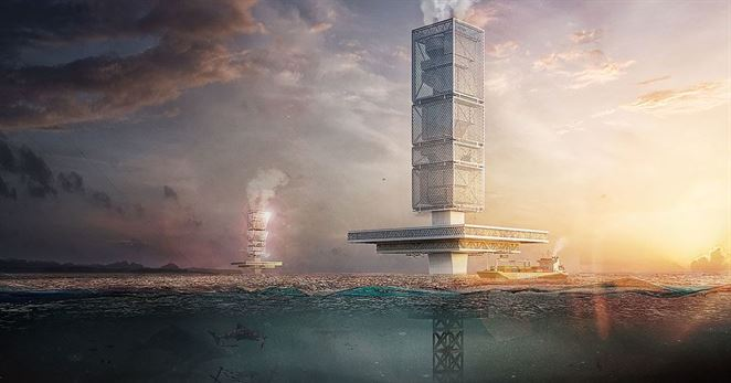 Obrovskú masu odpadu v oceáne má zlikvidovať filtračný mrakodrap