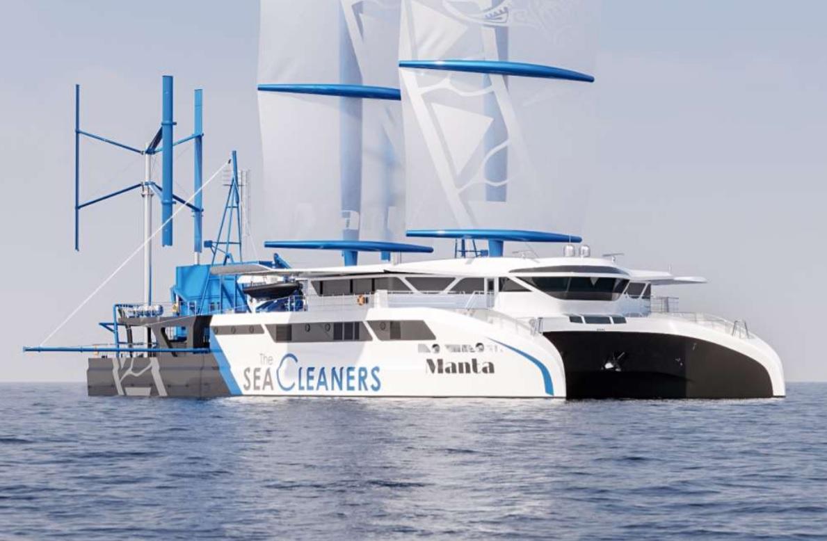 Inovatívne plavidlo čistí oceán od plastov, odpad využíva na pohon