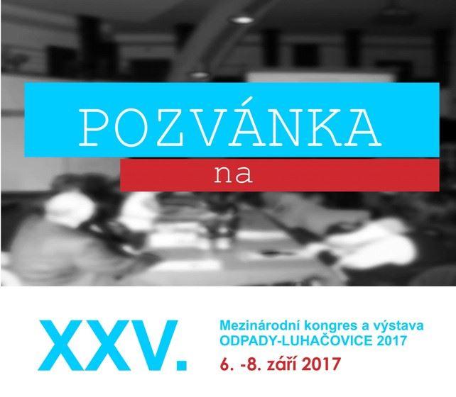 Pozvánka na konferenciu: ODPADY-LUHAČOVICE 2017