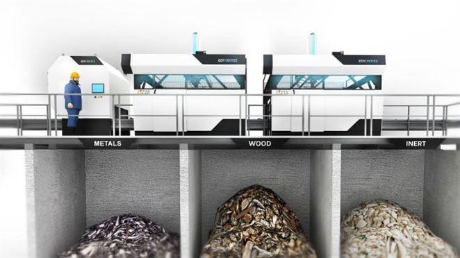 Triediaci robot ZenRobotics separuje stavebný odpad v Číne