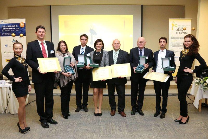 Výsledky súťaže Zlatý mravec za rok 2014