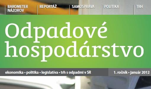 Mesačník ODPADOVÉ HOSPODÁRSTVO 2012/01