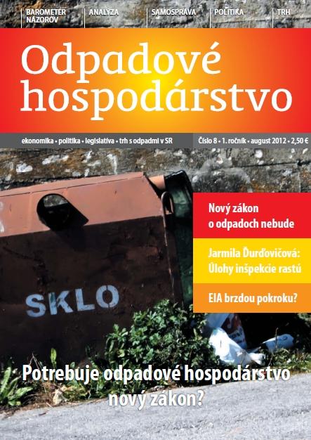 Mesačník ODPADOVÉ HOSPODÁRSTVO 2012/08
