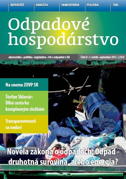 Mesačník ODPADOVÉ HOSPODÁRSTVO 2012/09